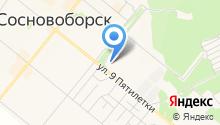 Городская поликлиника г. Сосновоборска на карте