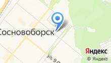 Сосновоборский городской совет ветеранов войны, труда, Вооруженных Сил и правоохранительных органов на карте
