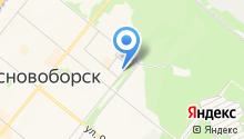 Мировые судьи г. Сосновоборска на карте