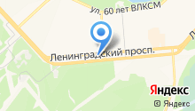 Автостоянка на Ленинградском проспекте на карте