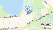 Средняя общеобразовательная школа №100 на карте