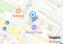 Компания «Gold`s Gym» на карте