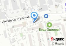 Компания «Строящееся административное здание по ул. Инструментальная» на карте