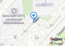 Компания «Ателье на проспекте Защитников Москвы» на карте