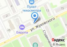 Компания «Автомойка на ул. Жуковского» на карте