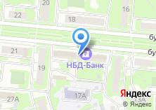 Компания «НБД-Банк» на карте
