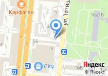 Компания «Продуктовый магазин на ул. Татищева» на карте