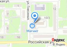 Компания «Строящееся административное здание по ул. Гнесиных» на карте