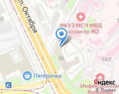 Компания Ярстройгаз на карте города
