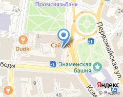 Компания Адама на карте города