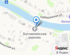Компания Богоявленская церковь на карте города