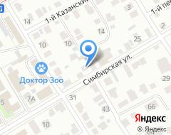 Компания Симбирск-Спецавтоматика на карте города