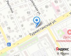 Компания Магазин автоэмалей на Туркестанской на карте города