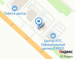 Компания Peugeot на карте города