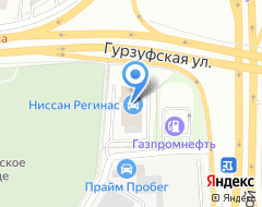 Компания Банк Москвы на карте города