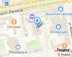 Компания Попова 6 на карте города