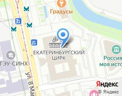 Компания Детская цирковая студия воздушной гимнастики при Екатеринбургском цирке на карте города