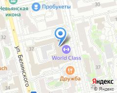 Компания World Class на карте города
