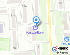 Компания Банкомат, Альфа-банк на карте города