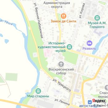 Почта с индексом 607223 на Яндекс.Картах