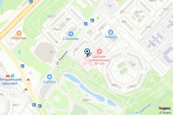 «Дирекция по обеспечению деятельности государственных учреждений здравоохранения Западного административного округа Москвы» на карте
