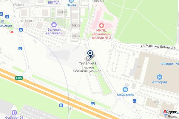 «Межрайонный отдел ГИБДД технического надзора и регистрации экзаменационной работы №5» на карте