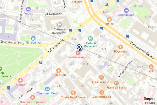 «Лечебный центр» на карте