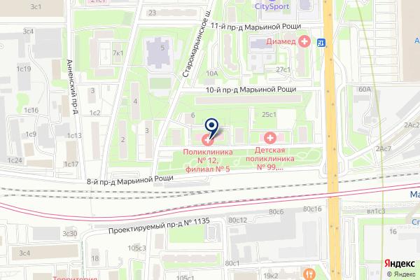 «Городская поликлиника №12» на карте