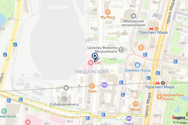 «Европейский Медицинский Центр» на карте