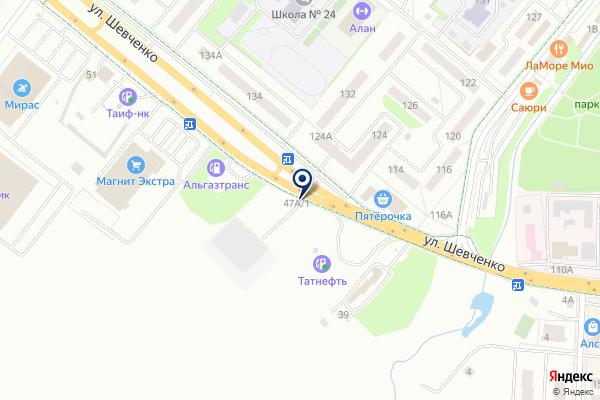 «Гюзель» на карте