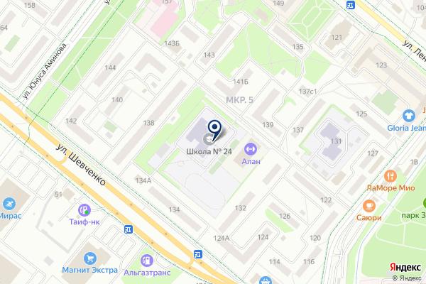 «Средняя общеобразовательная школа №24» на карте