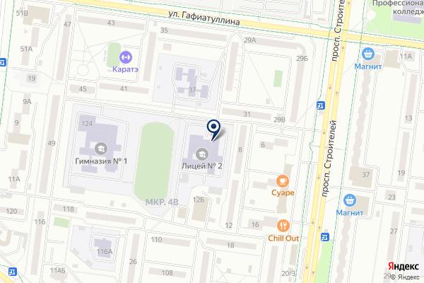 «Лицей №2 г. Альметьевска» на карте