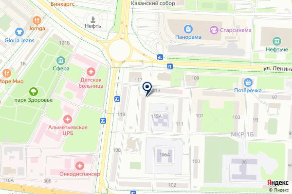 «Темп» на карте