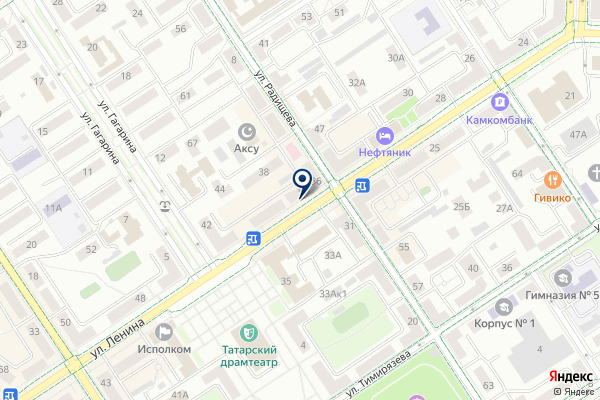 «Чебоксарский трикотаж» на карте