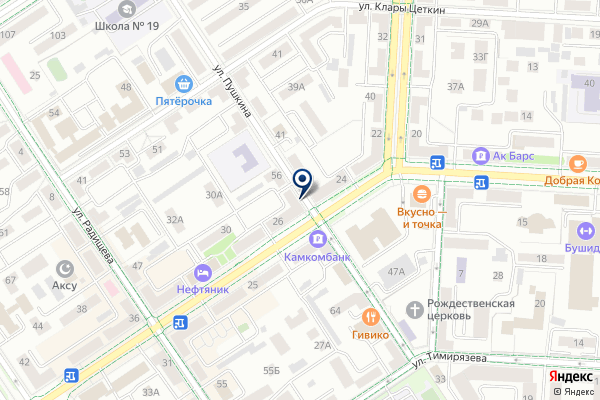 «ЭНДОМЕД» на карте