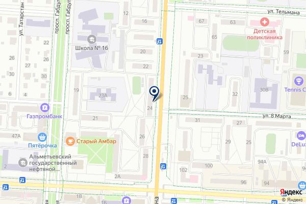 «А-МЕГА» на карте