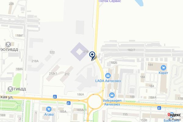 «Автомобилист» на карте