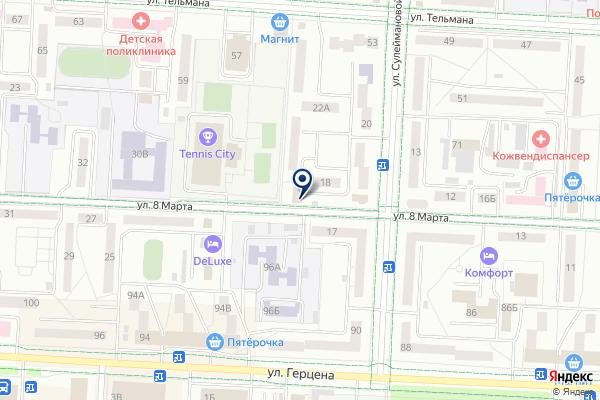 «Меридиан» на карте