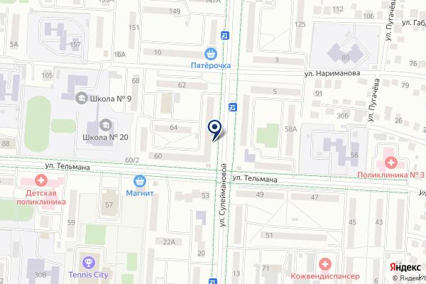 «Первый поселок» на карте