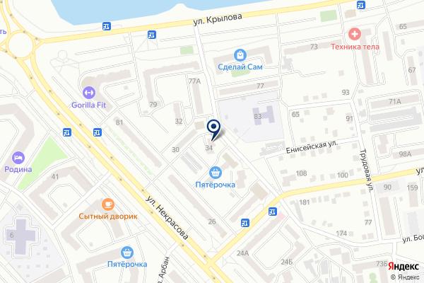 «Ночной» на карте