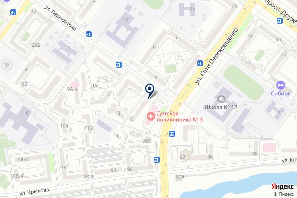 «Южно-сибирский финансовый центр» на карте