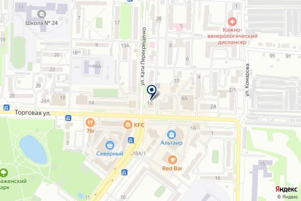 «Форвард» на карте