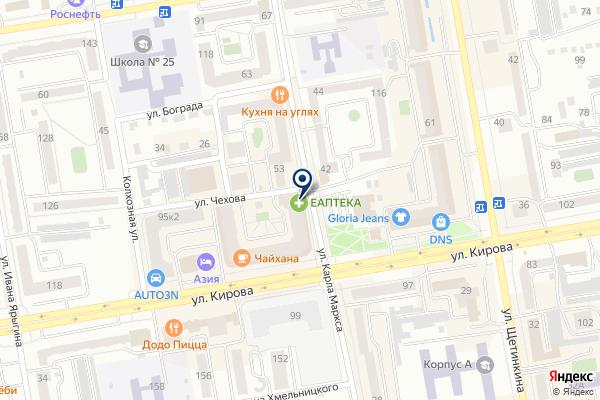«Гелиос» на карте