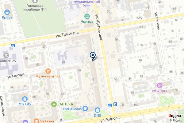 «Банковский партнер» на карте