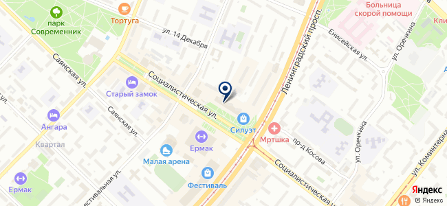 Дилайн-Ангарск на карте