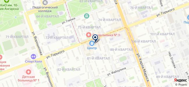 Золушок на карте