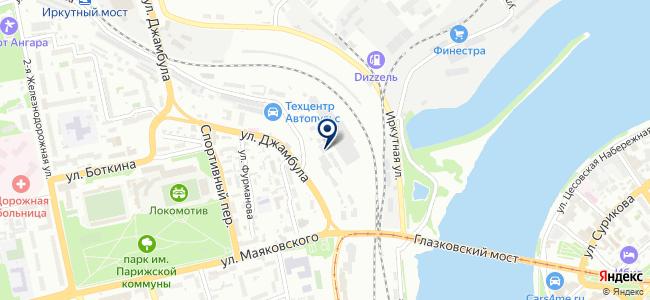 Иркутский центр устройств автоматики и телемеханики на карте