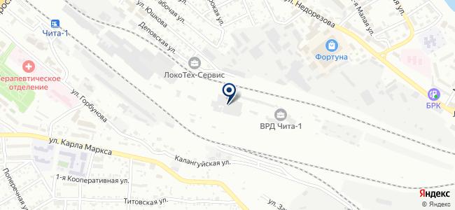 Читинская дистанция электроснабжения Забайкальской железной дороги на карте