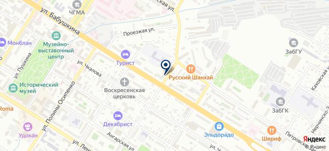 Дэу Энертек Чита на карте