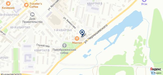 Серебряный ручей на карте